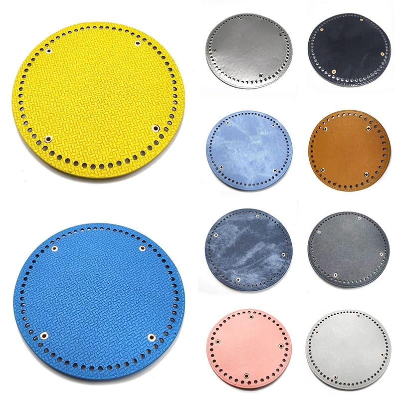 1PC Round Bottom For Knitting Bag PU Leather Bags Cushion Pad For Women Shoulder Handbags Handmade DIY Bag Accessories