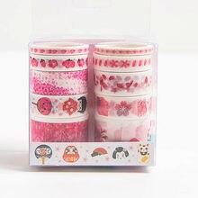 10 pçs sukura unicórnio flamingo washi fita scrapbooking masking adesivos para diy presente estacionário natal decoração da escola suprimentos