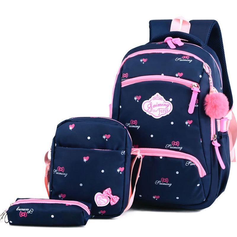Litthing children school bags girls backpack bookbags kids princess primary mochila infantil