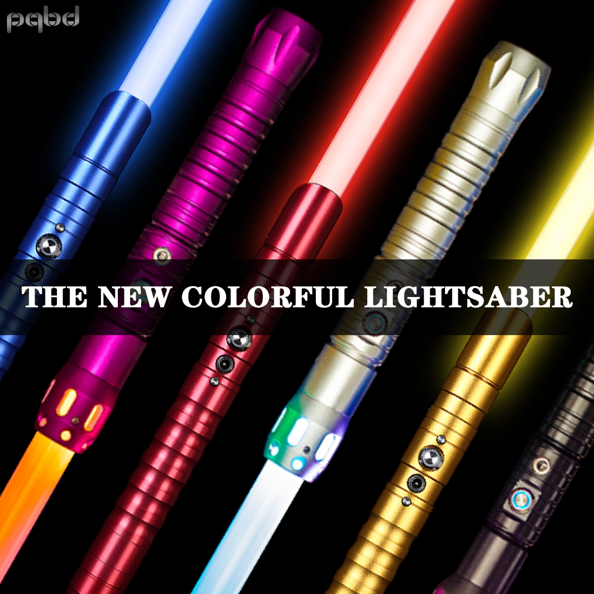 pqbd Jedi The New Laser Sword 7 Original Movie Sound Effects Automatic 11Color Changing Lightsaber FX FOC Lock Up Blaster Toys