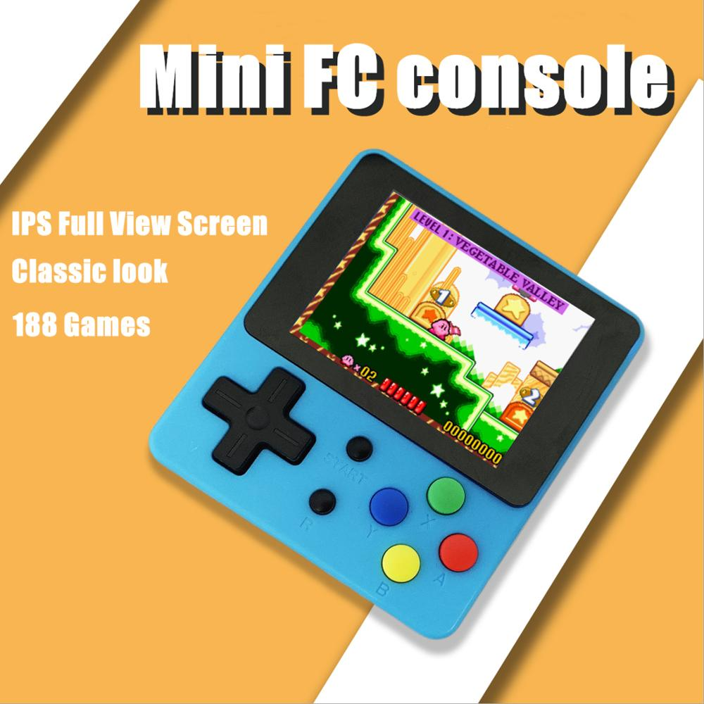 Mini Handheld TV Game Console 8 Bit Retro Video Game Console Built-In Games AV output Gaming Player Best Gift 2.4inch