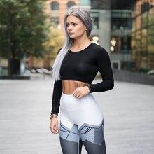 Женская одежда легинсы для фитнеса с принтом спортивные Леггинсы