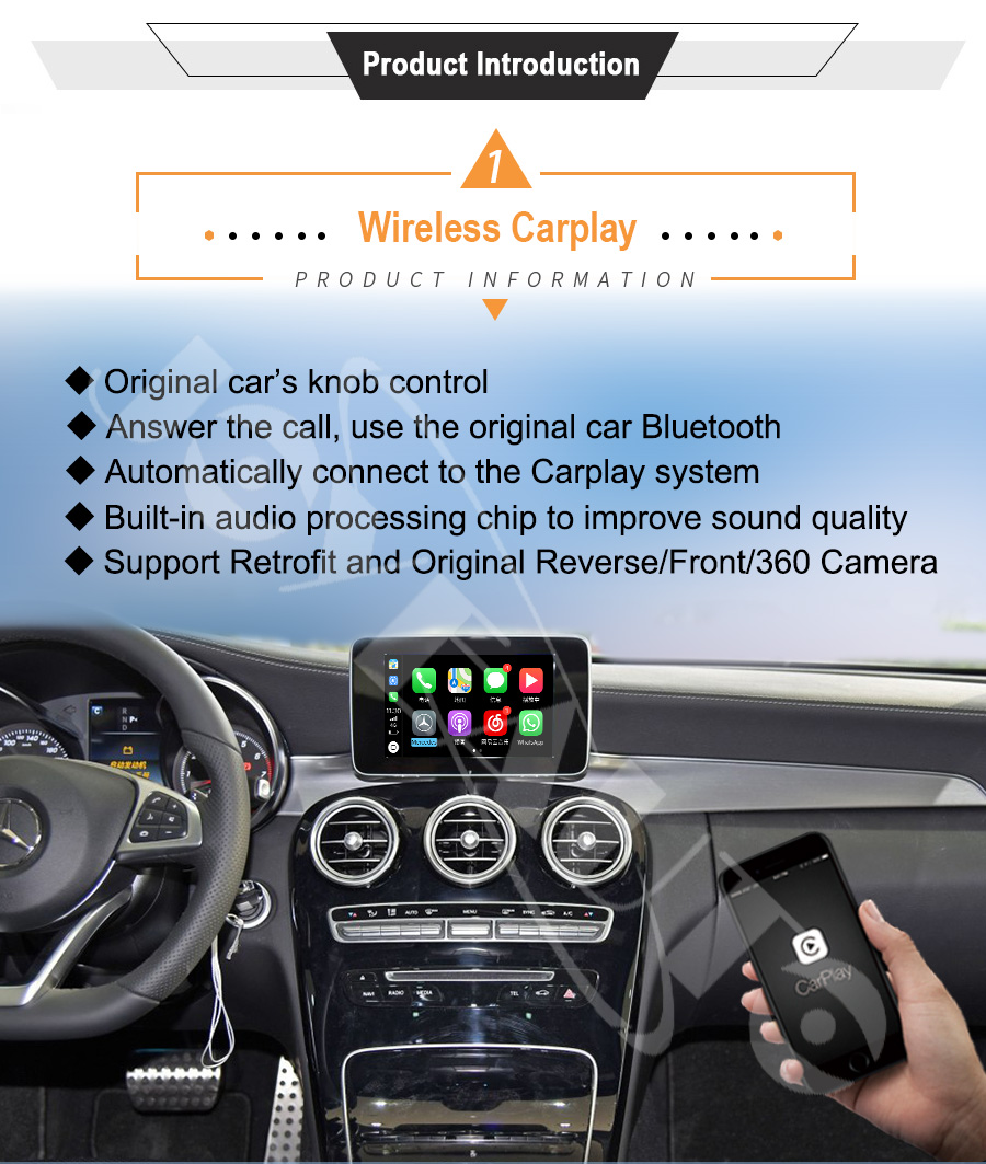 US $355 59 19% OFF|Joyeauto Wireless Apple Carplay for Mercedes A B C E G  CLA GLA GLC S Class Car play Android Auto/Mirroring 2015 2019 NTG5 W205-in