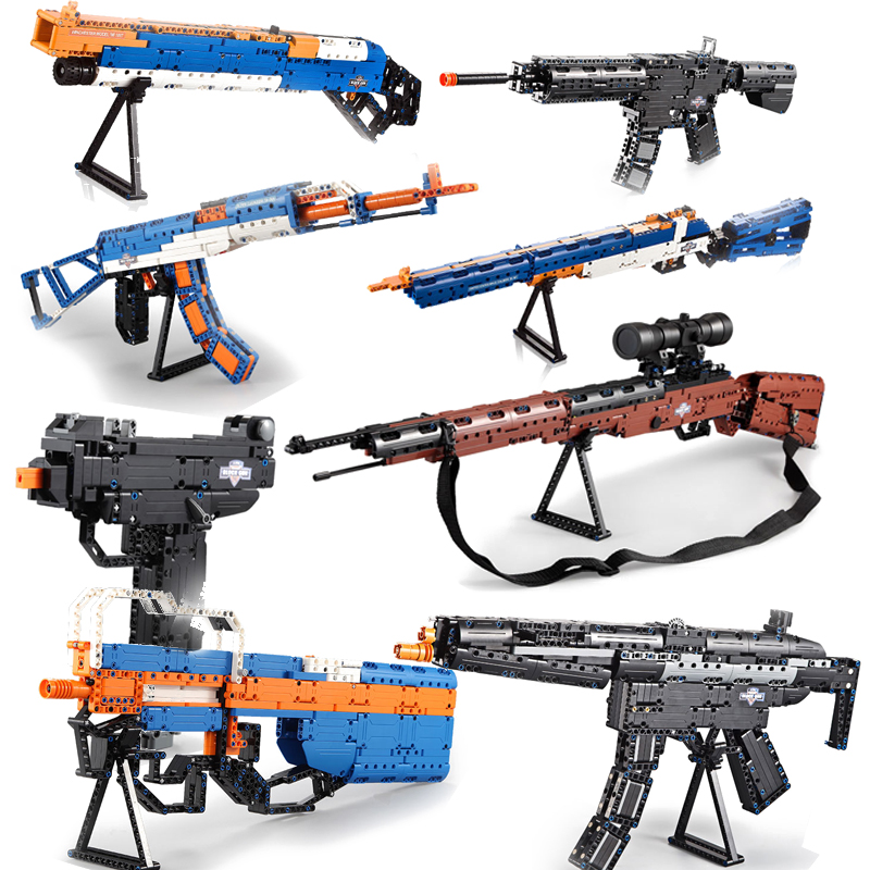 New Legoings Military Series Weapon Gun Building Blocks Sets Bricks Toys  Boys DIY Model Blocks Toys For Kids Christmas Gifts