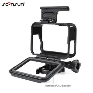 Image 3 - SOONSUN Standard Frame Mount Protective Housing Case for GoPro Hero 5 6 7 Black for Go Pro HERO7 White Silver Action Camera