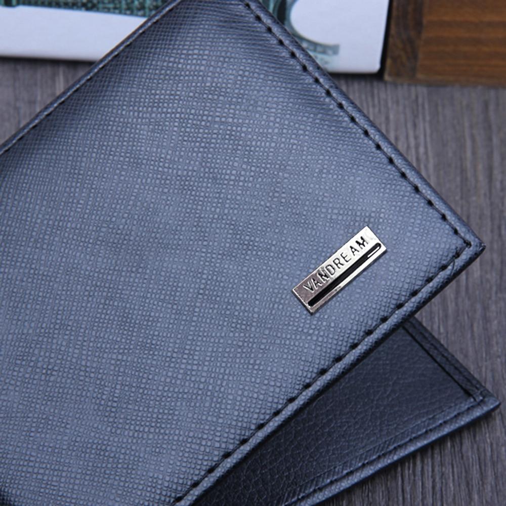 Men Bifold Business Leather Wallet  ID Credit Card Holder Purse men's wallet clutch portfel cuzdan billetera carteira  (14)