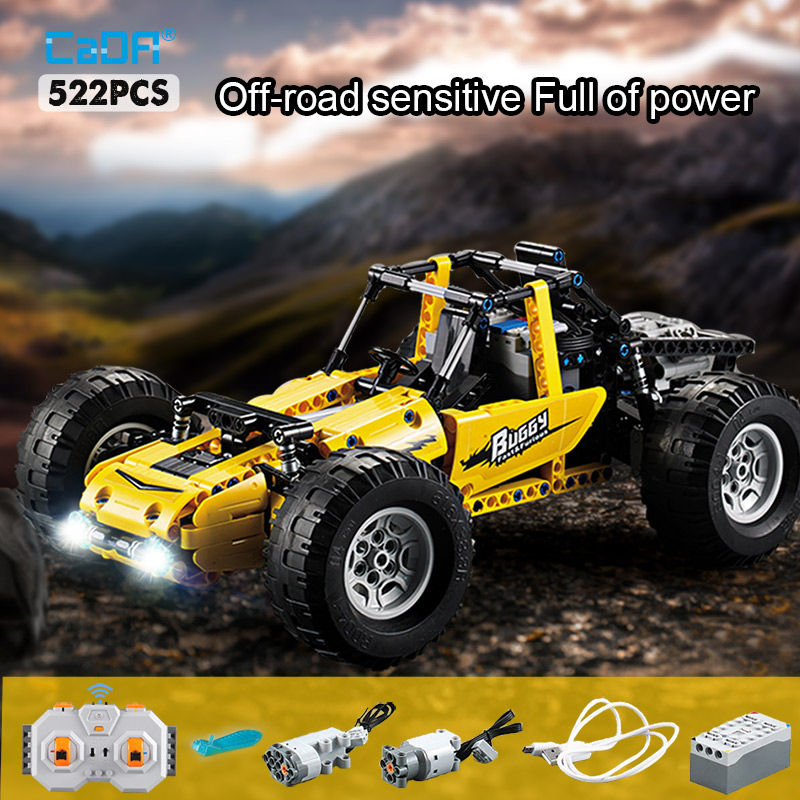 Cada 522 pces 2.4ghz caminhões de escalada cidade técnica rc carro de corrida todo o terreno fora de estrada blocos de construção tijolos brinquedos para crianças