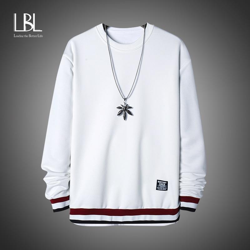 LBL Pullover Sweatshirts Men 2020 Autumn Winter Fashion Long Sleeve Hoody Comfortable Streetwear Hoodies 2020 Men's Sweatshirts