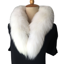 Real fur scarf Collar Fashion Winter Warm Fur Snow Fox Arctic Tail 100% Scarf Men &Women Long 90cm