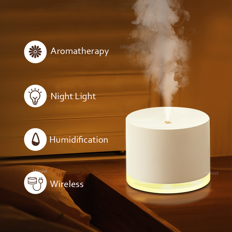 780ml Wireless Air Humidifier 2000mAh Battery Rechargeable Humidificador Aromatherapy Portable Diffuser Air Purifier Mist Maker