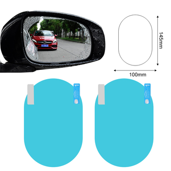 2Pcs Car rearview mirror waterproof and anti-fog film for BMW E30 E34 E36 E39 E46 F10 F11 F31 G30 M1 M2 X1 F48 X3 X4 X5 image