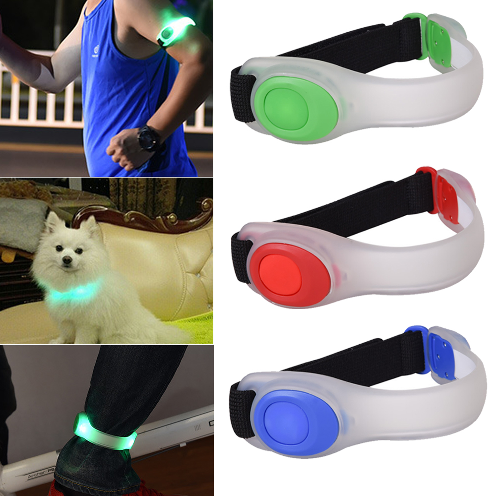Night Running Cycling  LED Safety Light Portable Lamp Armband Reflective Bracelet For Runner Jogger Dog Collar Bicycle Rider