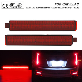 2X Rear Bumper LED Reflector Light lamp For Cadillac CTS CTS-V Buick Enclave Chevrolet Equinox Trailblazer GMC Pontiac Saturn image