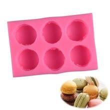 6 Cavity Stereo Macaron Style Silicone Mold DIY Handmade Soap Candle Mold Fondant Cake Chocolate Decor Tools Silicone Soap Molds