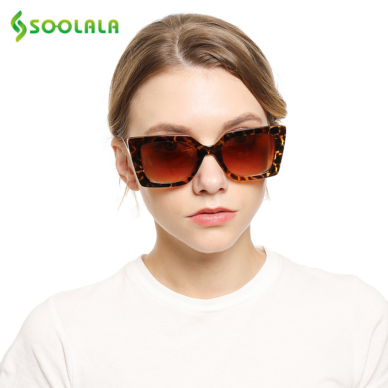 SOOLALA Brand Designer Cat Eye Sunglasses Women 2019 Eyeglasses Computer Frame Vintage Pearl Arms Square Sun Glasses