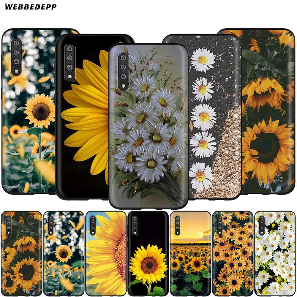 Webbedepp mała stokrotka słonecznika etui do Samsung Galaxy S7 S8 S9 S10 Plus krawędzi uwaga 10 8 9 A10 A20 A30 A40 A50 A60 A70