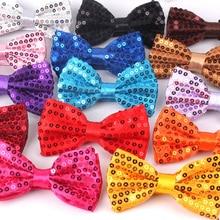 Модный галстук-бабочка для мужчин и женщин, классический галстук-бабочка с блестками для свадебной вечеринки, галстук-бабочка для взрослых, мужские бабочки, желтый галстук