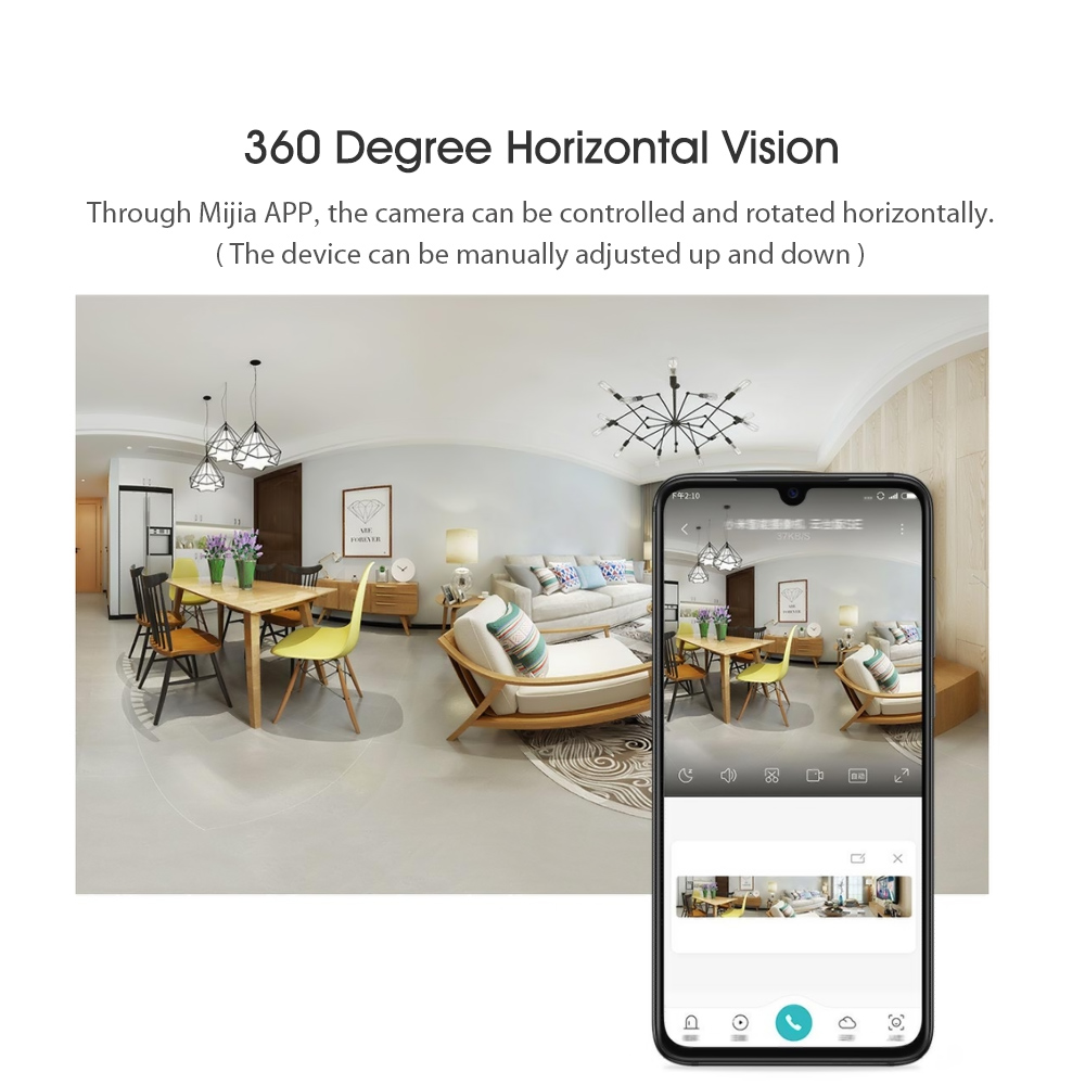 Closeout DealsüXiaomi Smart-Camera MJSXJ08CM Detection 360-Degree 1080P SE Vision HD AI Humanoid Infrared