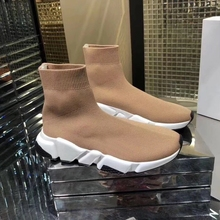 Brand designer socks shoes lovers fashion stretch knit shoes casual platform shoes men and women shoes 35-46
