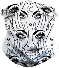 Multicolor Magic Head Face Mask Eye See You Design Neck Gaiter Headwear Outdoor Tube Scarf Men Women Headband Wristband Szalik