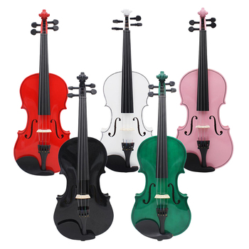 4/4 Full Size Natural Color Acoustic Violin Fiddle W/ Case Bow Rosin Set