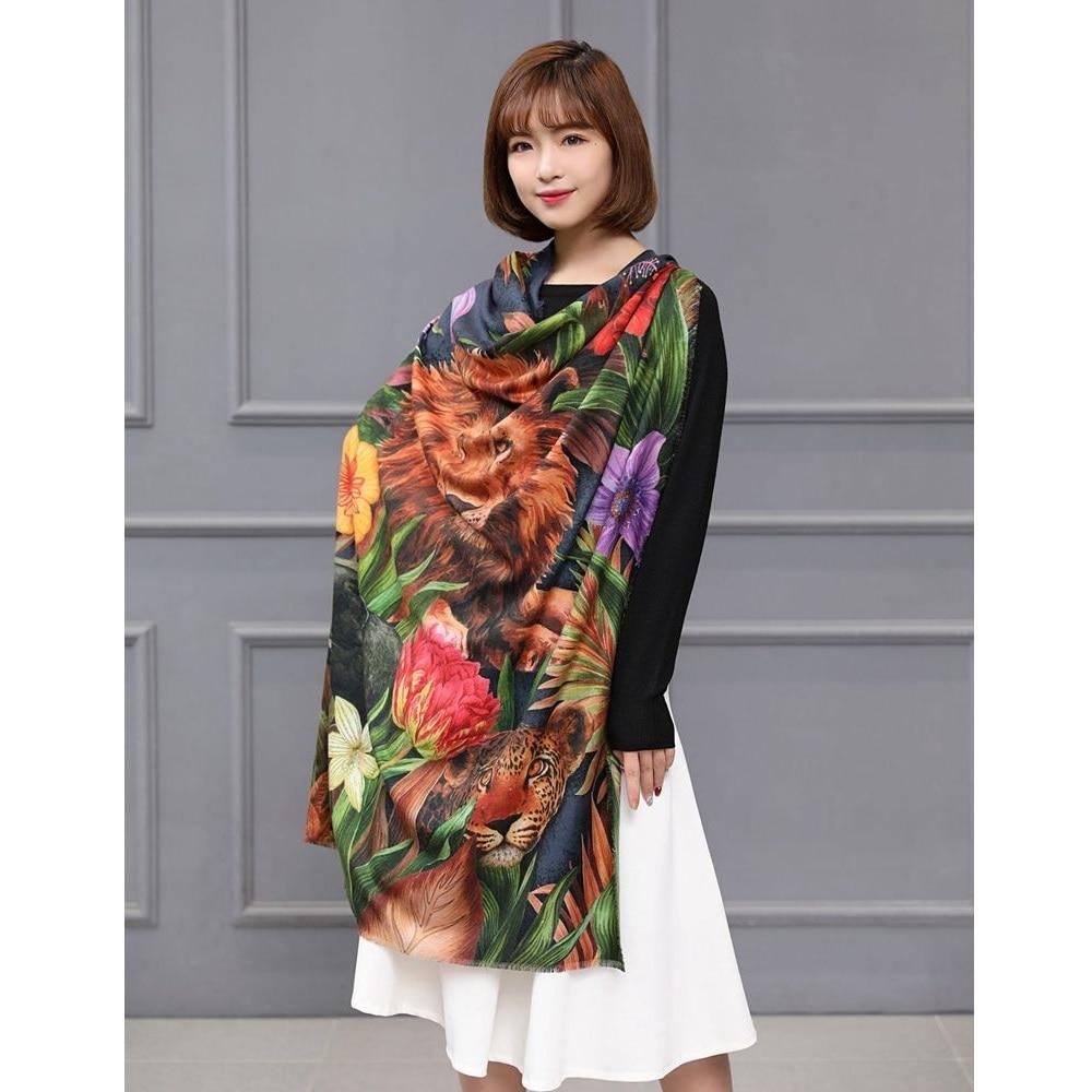 Grande couverture carrée foulards châle enveloppes pour femmes hiver mode foulards charmant imprimer 120x120cm