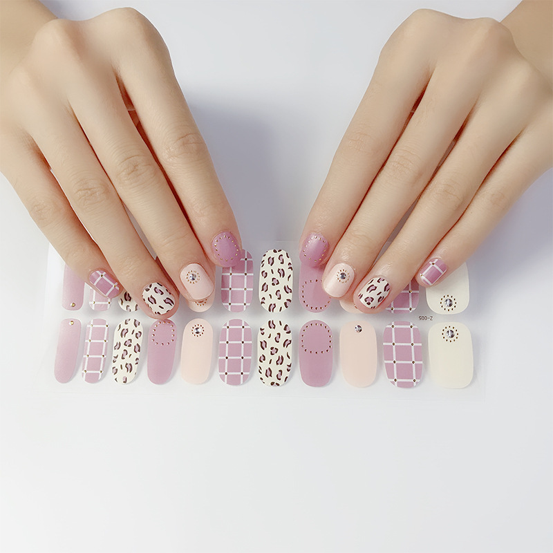 Zhengxiang 22 Refers To Manicure Stickers Leopord Pattern Nail Sticker Environmentally Friendly Pregnant Women Usable Japanese K