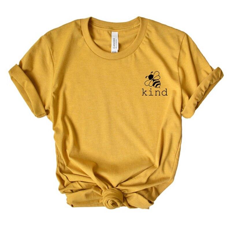 Bee Art Pocket-Print T-shirt Sparen Die Bienen Grafik T-shirt Frauen Ästhetischen Baumwolle T Shirt Kawaii Mädchen Tees Sommer Tops drop Schiff