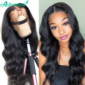 Asteria Body Wave 13x6 Lace Front Human Hair Wigs For Black Women Brazilian Lace Wigs Pre Plucked With Baby Hair Remy Hair Weave(China)