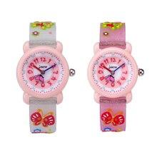 TurnFinger бабочка мультфильм милый узор водонепроницаемый детский% 27s кварц часы силикон желе ремешок дети мода горячая распродажа подарок