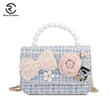 RARE CREATIVE Women's Shoulder Bag Fashion Bags Ladies Luxury Bags 2019 Plaid Wool Messenger Bags High Quality Flap Bags HM6030 цена 2017