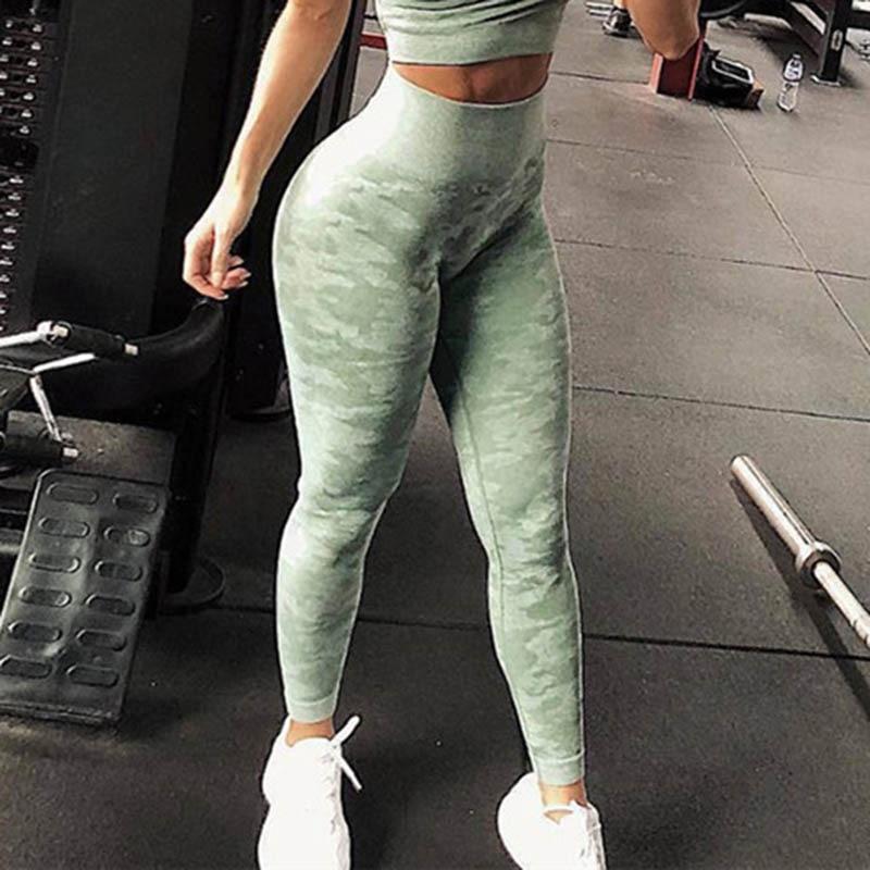 Nessaj omen Seamless   Leggings   Women Fitness Push Up Camouflage   Leggings   Sporting   Leggings   Seamless Workout Jeggings Female Pants