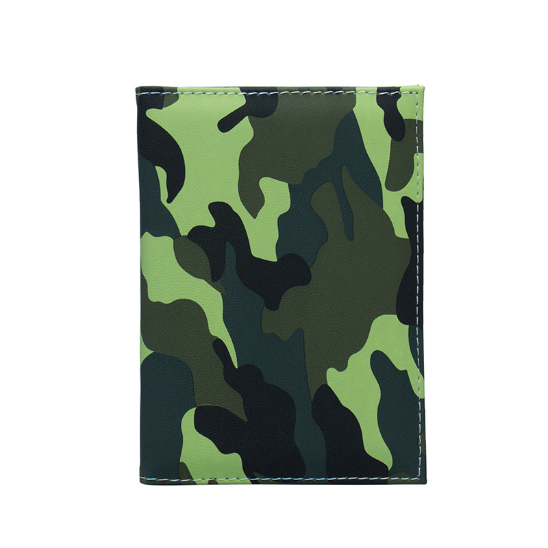 Zoukane Army Camouflage Color Patchwork Passport Cover Case Card Holder Colorful Passport Wallet Travel Accessories ZSPC21