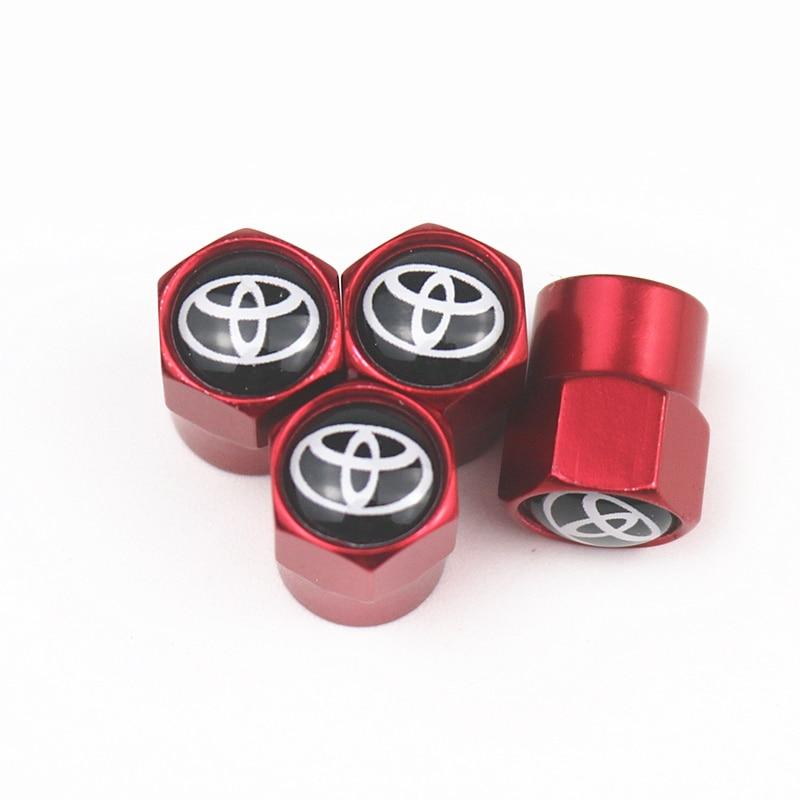4 PCS Car Styling Car Tire Wheel Valve Cap Tire Protection Cap For Toyota Corolla Chr Auris Rav4 Yaris Avensis Car Sticker