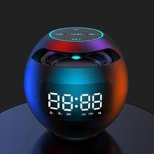 Mini Bluetooth Speaker Portable with LED Light FM Radio Alarm Clock Music Boombox 2200mAh Gift Caixa De Som Portatil Altavoces