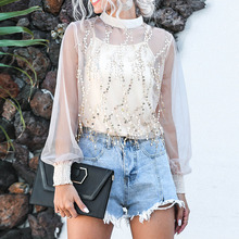 Spring Summer 2020 Women's New Casual Tassel Chiff