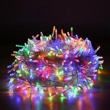 10M 20M 50M 100M AC220V 110V Led חג מחרוזת אורות דקור עבור חג המולד זר חתונה חג המולד חיצוני עמיד למים פיות אור