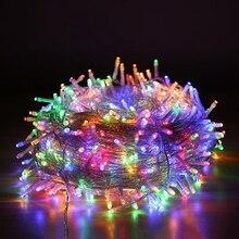 Tira de luces festivas Led para decoración, guirnalda de decoración para Navidad, boda, Navidad, exterior, luz de hadas impermeable, 10M, 20M, 50M, 100M, AC220V, 110V