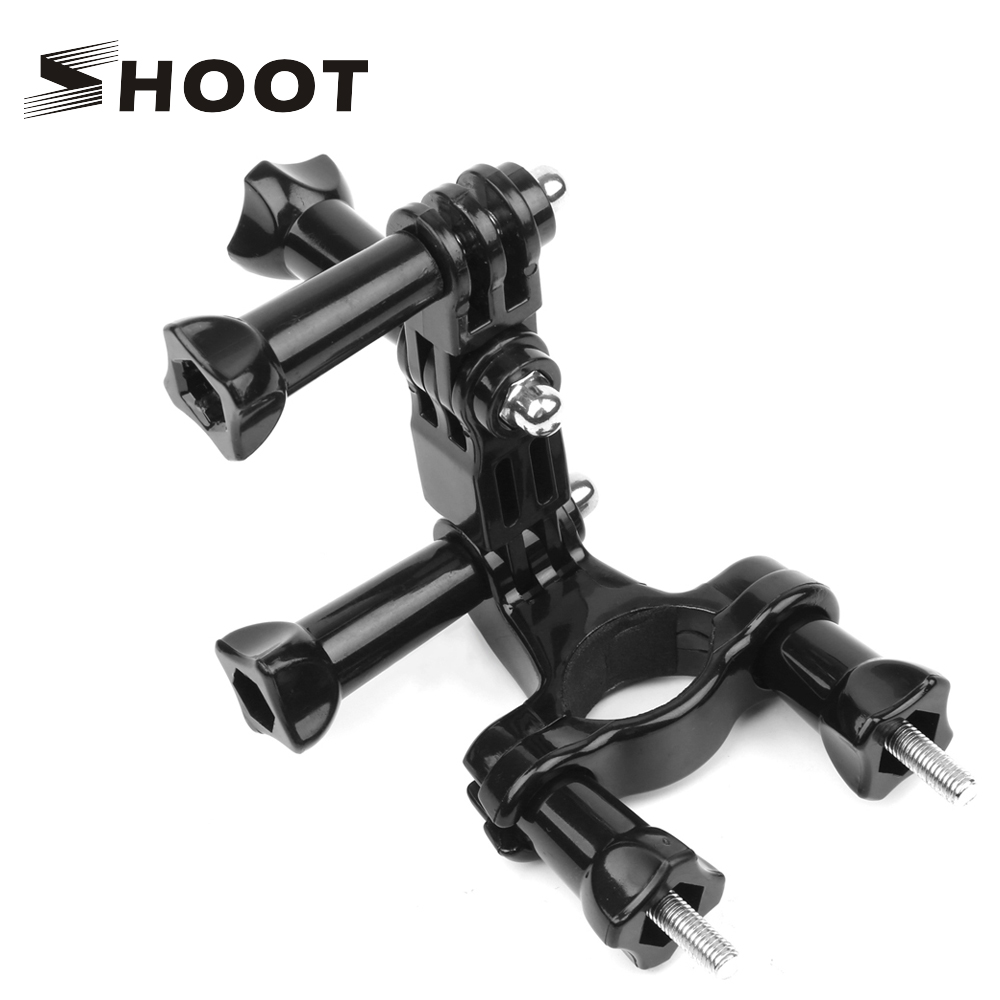 SHOOT Bicycle Clamp Handlebar Seatpost Pole Holder Mount For GoPro Hero 8 7 5 Black Xiaomi Yi 4k Sjcam Sj8 Eken Go Pro Accessory
