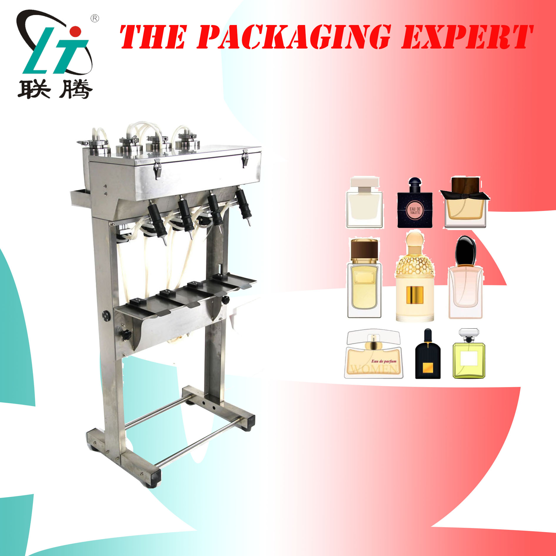 4heads Perfume Fragrance Cologne Filling Machine Four Heads Toilet Water Filler Level Control Glass Bottles Free Shipping