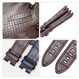 Image 5 - Pesno skóra aligatora oryginalne skórzane paski do zegarków czarna brązowa skóra cielęca pasek do zegarka nadaje się do Montblanc Timewalker Stat