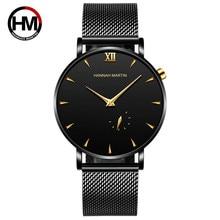 Men Watches Simple Small Dial Top Brand Luxury Quartz Clock Casual Business Stainless Steel Waterproof Watch Zegarki Meskie