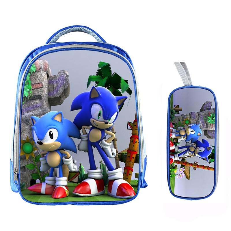 13 Inch Cartoon Sonic Backpack 16