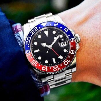 GMT Wristwatch Master II Rolexable Watch Men Batman 116710 Automatic Mechanical Movement 40mm AAA Watches Sapphire Ceramic Bezel