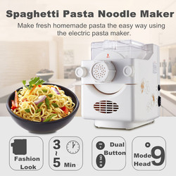 Elektryczne urządzenie do produkcji makaronu automatyczne obcinacz do rolek Spaghetti makaron warzywny maszyna do prasowania makaronu narzędzia naczynia kuchenne na