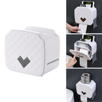 Portable Waterproof Toilet Paper Holder Wall Mount Toilet Paper Tray Roll Tissue Tube Home Bathroom Storage Box Organizer
