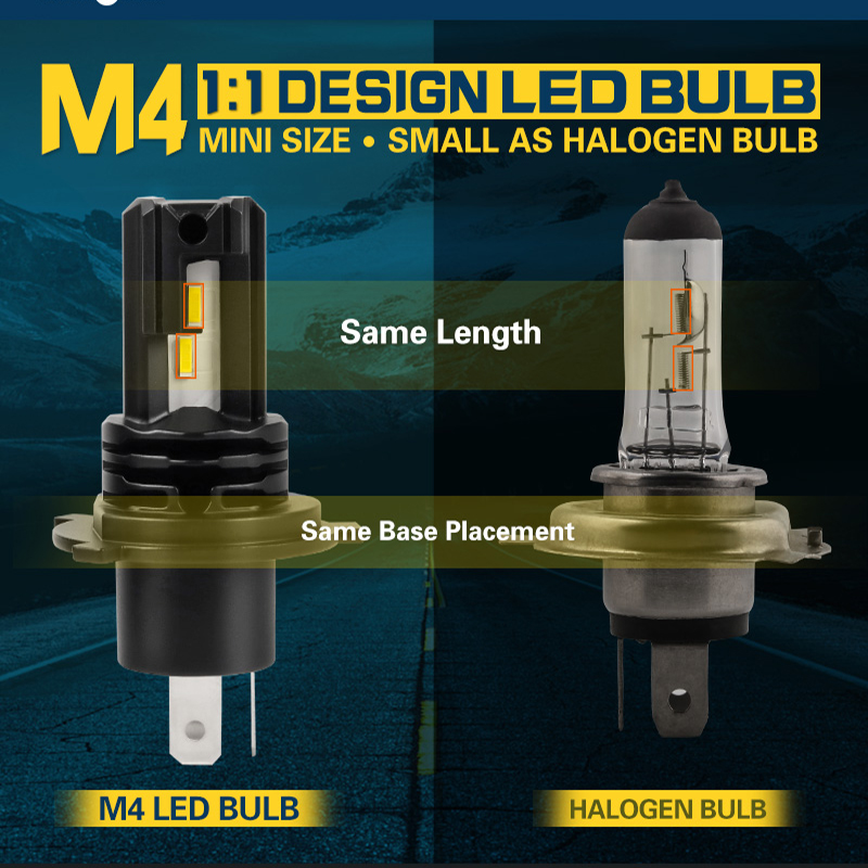 CN360 2PCS H4 9003 HB2 LED Headlight H7 H11 9005/HB3 9006/HB4 H8 H9 Auto Bulb Mini Fanless 50w 12v 24v 6500k Car Light Fog Lamp