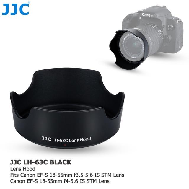 Lens Hood Canon EOS 90D 80D 70D 77D, canon EF S 18 55mm f/3.5 5.6 is STM, canon EF S 18 55mm f/4 5.6 is STM değiştirir EW 63C