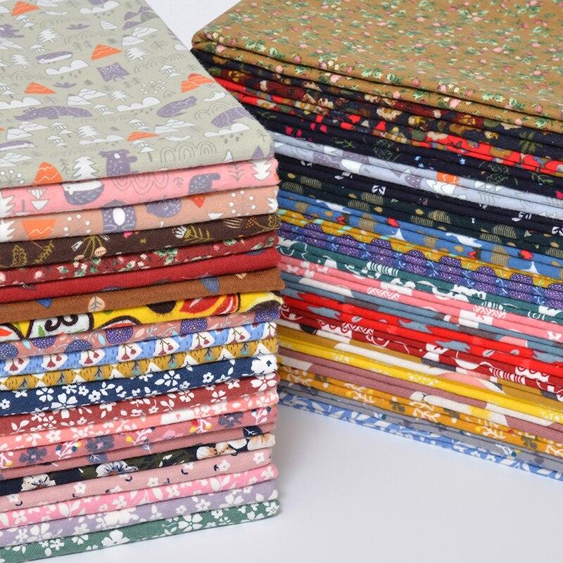 7ピース/ロット24 × 25センチメートル綿プリント生地布縫製キルティング生地diy手作りパッチワーク刺繍ミシンアクセサリー