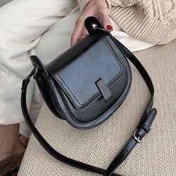 Mini bolsos de cuero de PU para mujeres 2020 bandolera Bolsos De Mujer bolsa de cuerpo cruzado de Color sólido